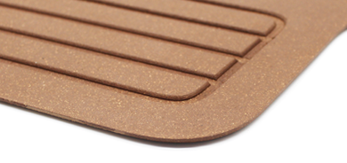 TM-3 rubber cork routed flooring